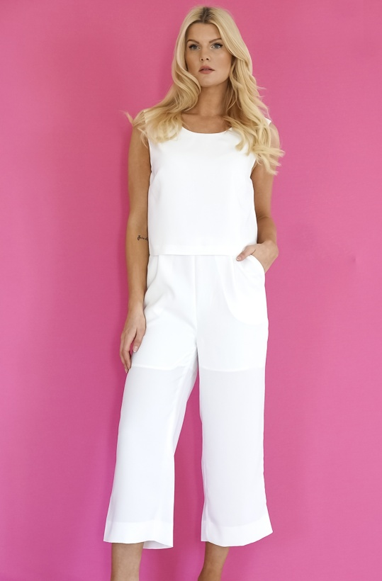JUST FEMALE - Ann Jumpsuit White