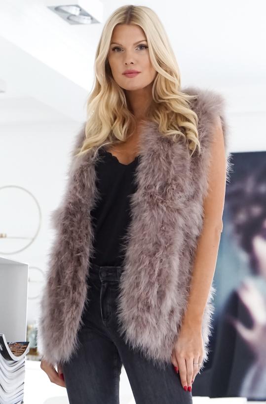 KOPENHAGEN BY ANDERSEN - Long Feather Vest