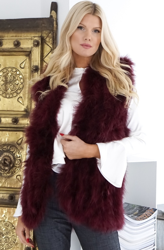 KOPENHAGEN BY ANDERSEN - Long Feather Vest