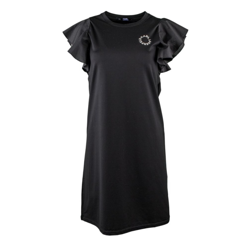 KARL LAGERFELD - Ruffle Black Dress
