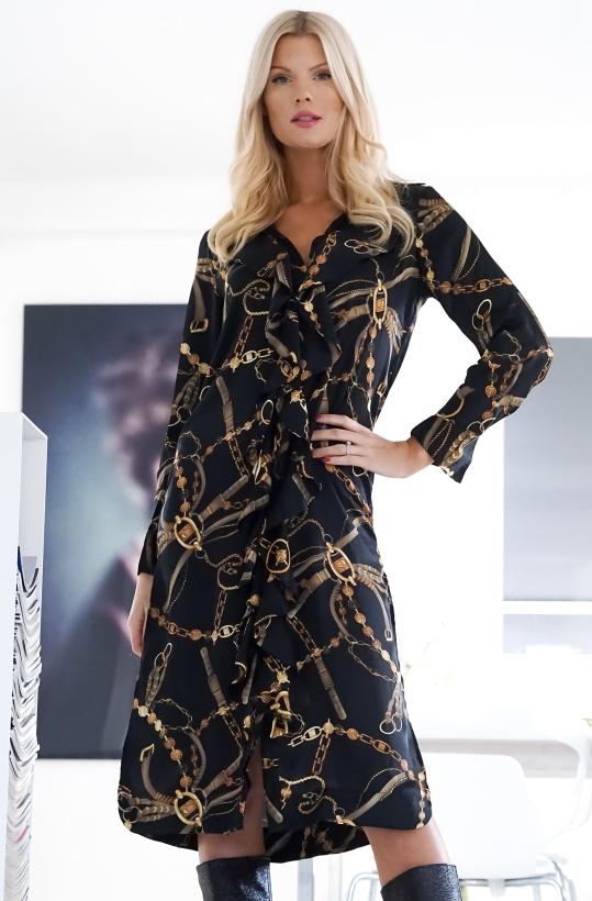 KARMAMIA - Chain Ruffle Dress