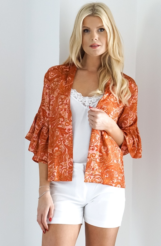KARMAMIA - Kimono Jacket Pink Paisley