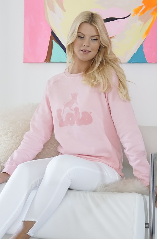 LOIS - Sweater Logo Pink