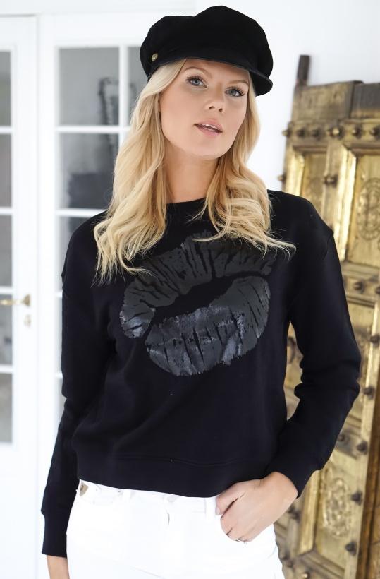 LALA BERLIN - Sweatshirt Talo Lips Black