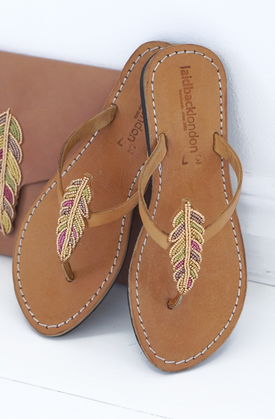 LAIDBACK LONDON - Porini Feather MidBrown