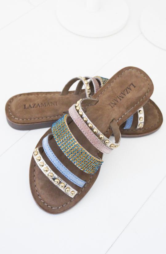 Lazamani - Gold Multi Sandal
