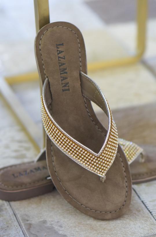 LAZAMANI - Flip Flops Guldiga