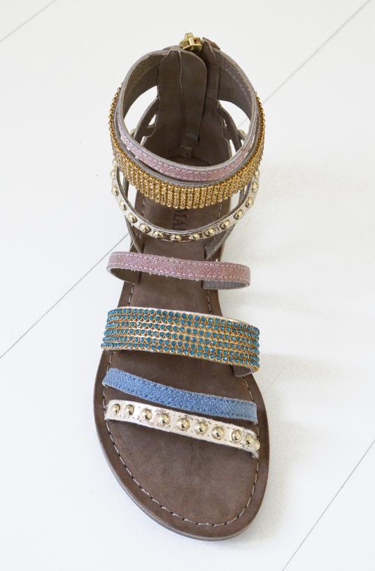 Lazamani - Gold Combi Strass High Sandal