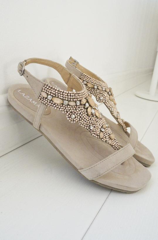 LAZAMANI - Sandal Nude Stones