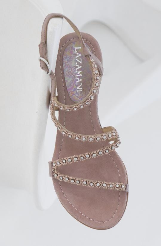 LAZAMANI - Sandal Strass Rose