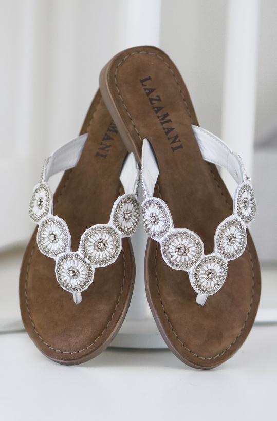 LAZAMANI - Flip Flop White Round