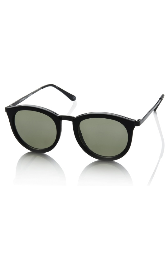 LE SPECS - No Smirking Black Rubber Khaki Lens