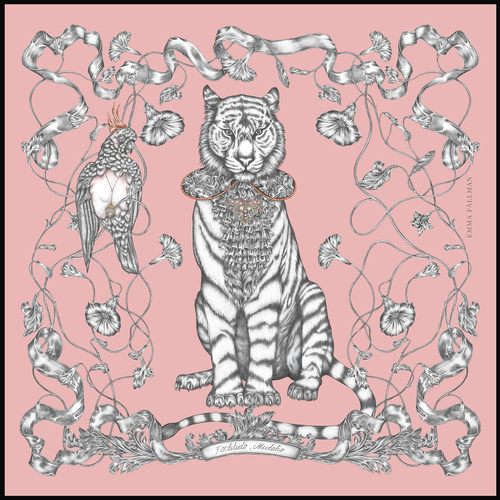EMMA FÄLLMAN - Mini Scarf Tiger Pink