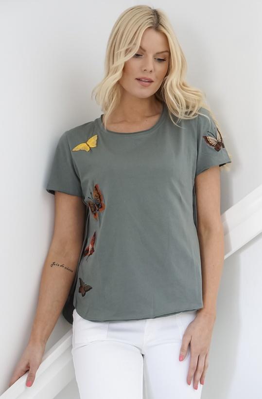MISS ME - T-shirt med Fjärilar