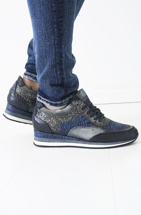 MJUS - sneakers blå zebra