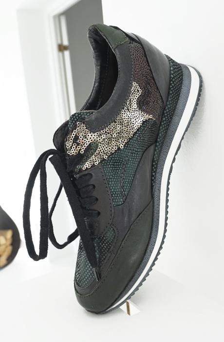 MJUS - Sneakers Grön/Paljetter