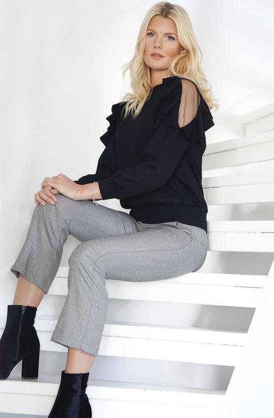 MOLLY BRACKEN - Volang/Mesh Sweater