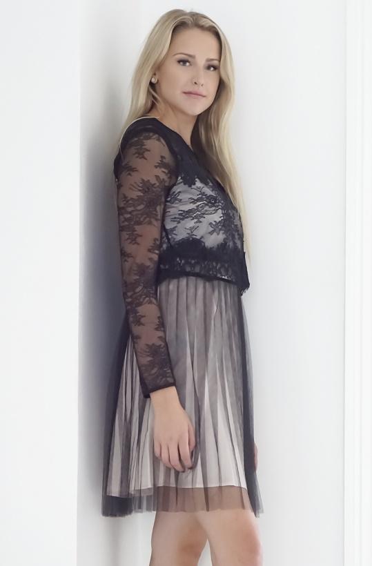 MOLLY BRACKEN - Dress Black/Nude