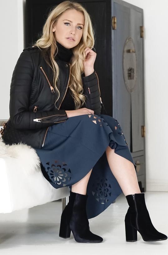 MOLLY BRACKEN - Jupe Charme Skirt Petrol