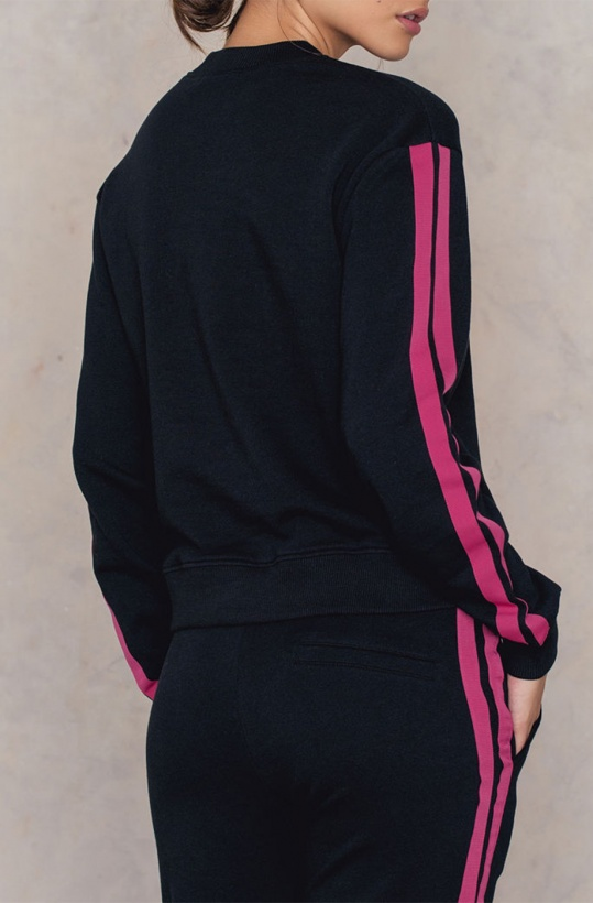NA-KD - Basic Striped Sweater BlackPink