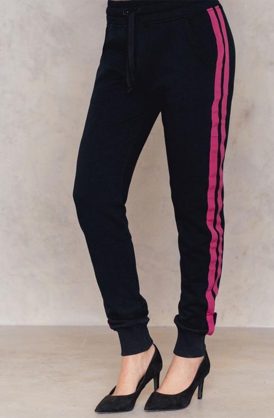NA-KD - Basic Striped Sweatpants Pink