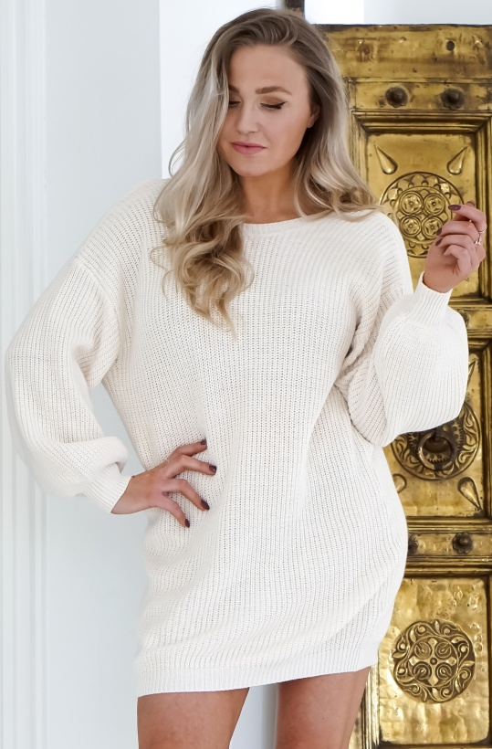 NA-KD - Deep V Back Long LKnitted Sweater