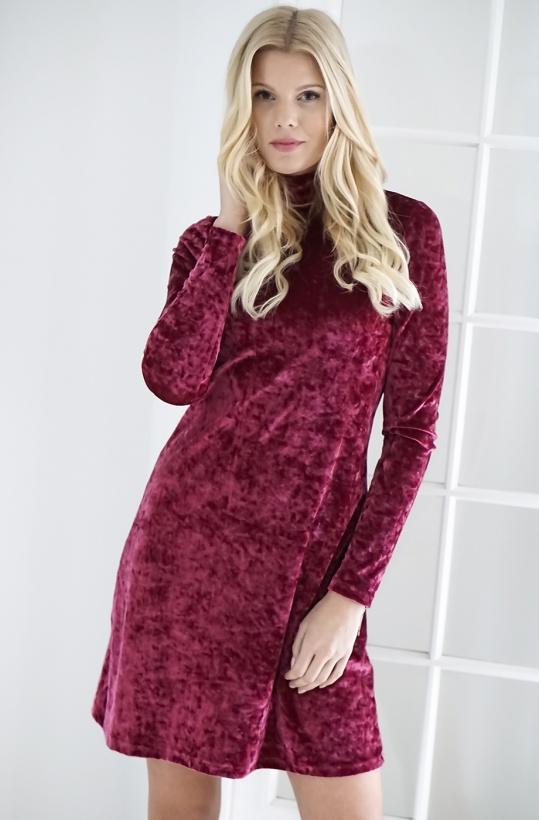 NA-KD - High Neck Velvet Dress