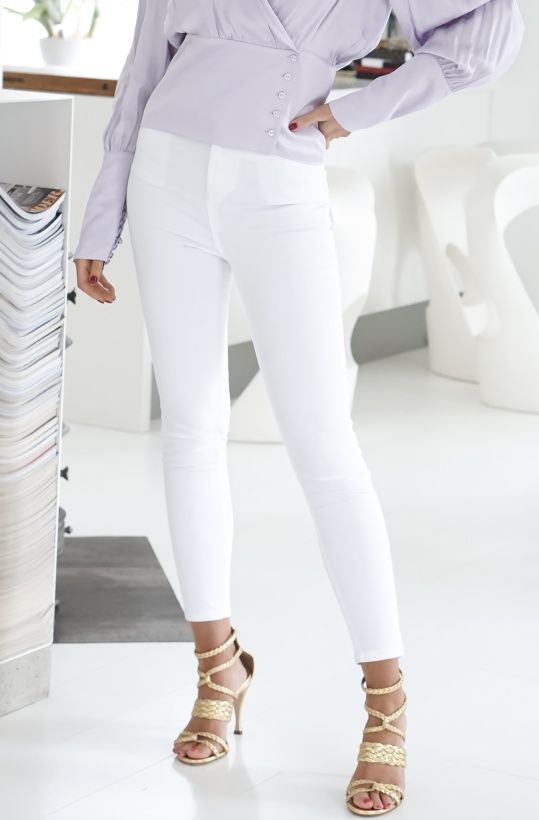 NA-KD - Superskinny High Rise White Jeans