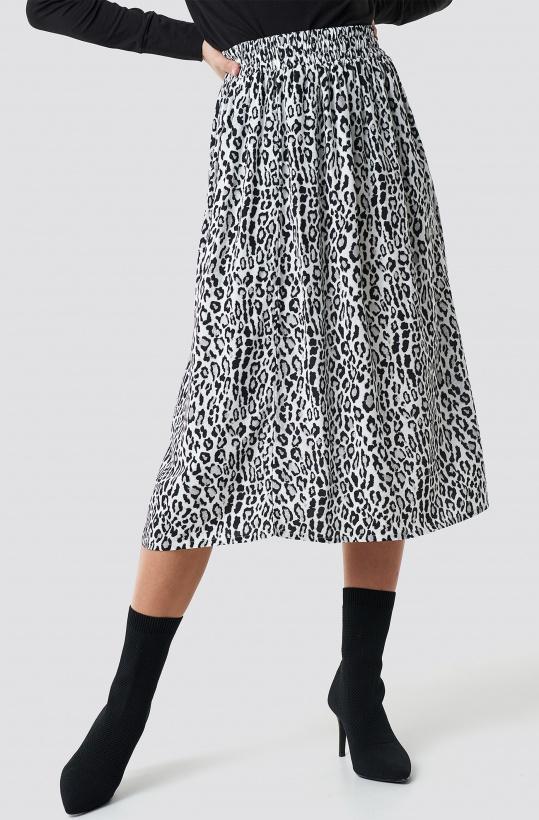 NA-KD - Leopard Midi Skirt