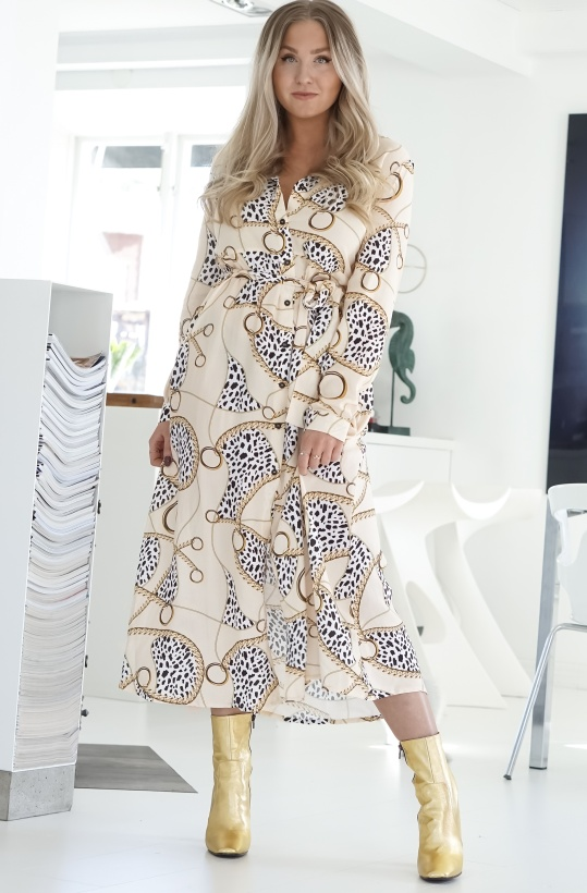 NA-KD - Leopard Chain Shirt Dress