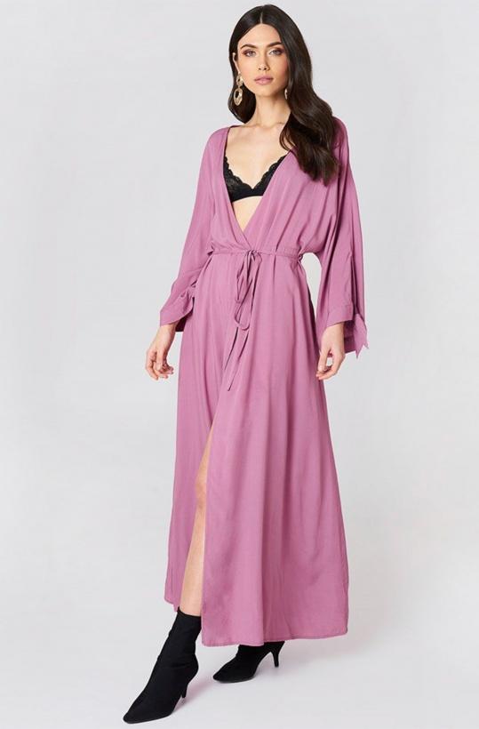 NA-KD - Tied Sleeve Coat Dress