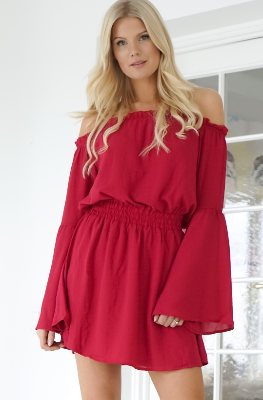 NA-KD - Wide Sleeve Offshoulder Dress