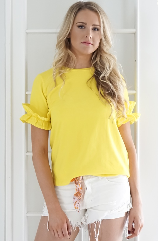 NORR - Amina T-shirt Yellow
