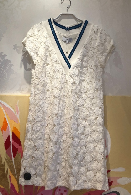 NADINE H - Dress with White Flowers