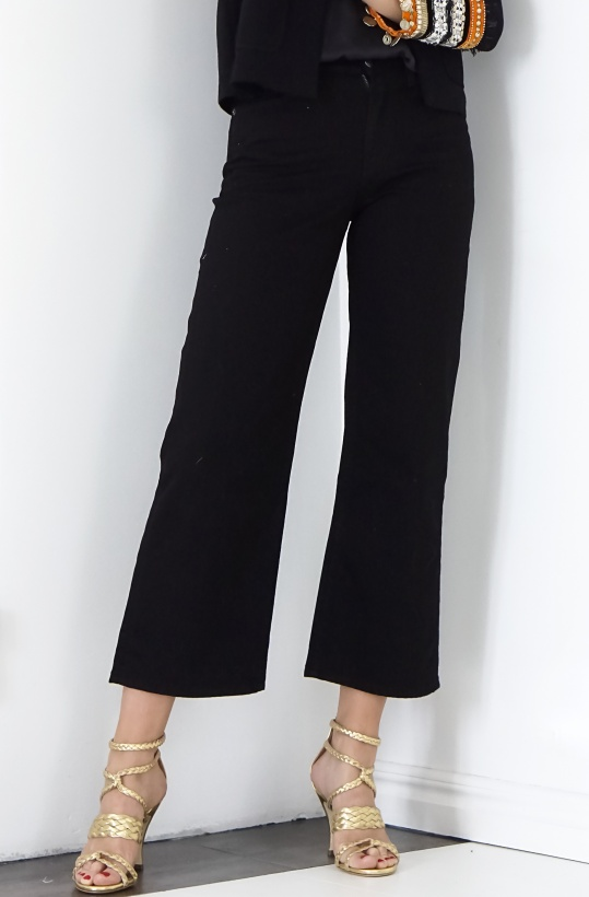 NAIM JOSEFI - Black Ankle Wide Jeans