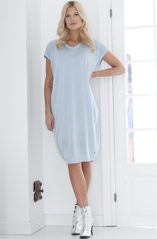 NUMPH - Blue Glitter Knit Dress Omphalodes