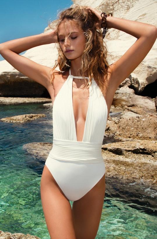 GOTTEX - Perla Goddess Swimsuit White