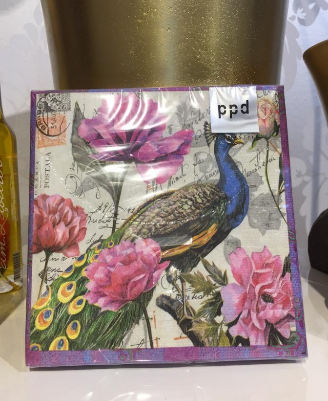 PPD - Påfågel lila servett