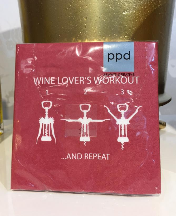 PPD - Wine Lovers Workout, kaffeservetter
