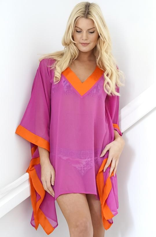 Summer Diva Tunic Cerise/Orange