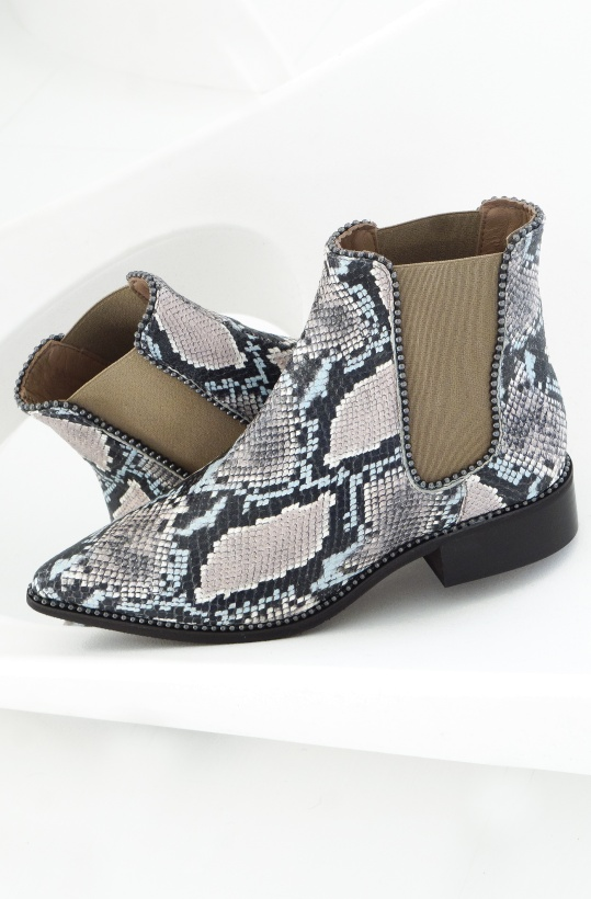 PEDRO MIRALLES - SNake Boots with Studs