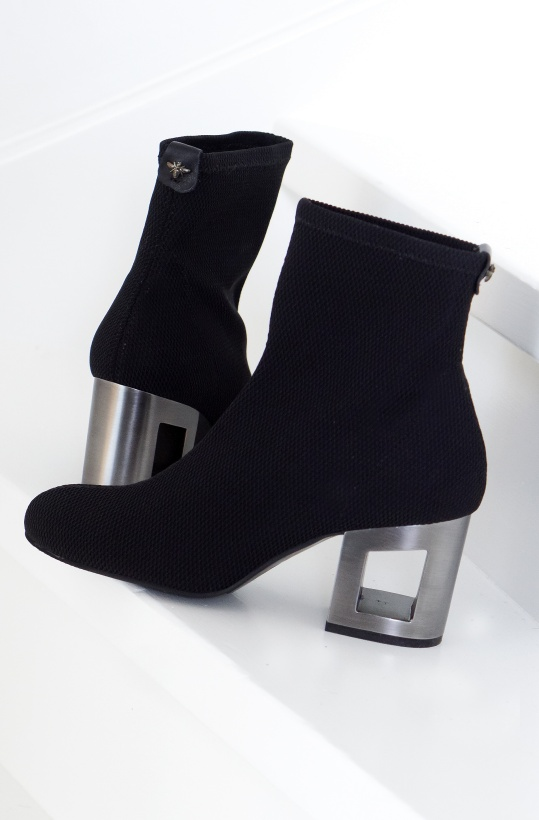 PEDRO MIRALLES - Stretch Boot with Square Heel