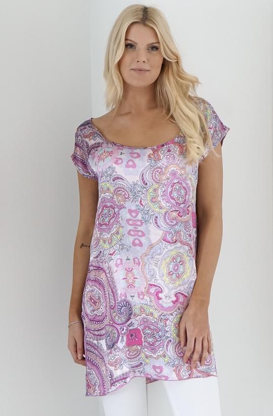 PLAIN VANILLA - Paisley Silk Dress/Tunic