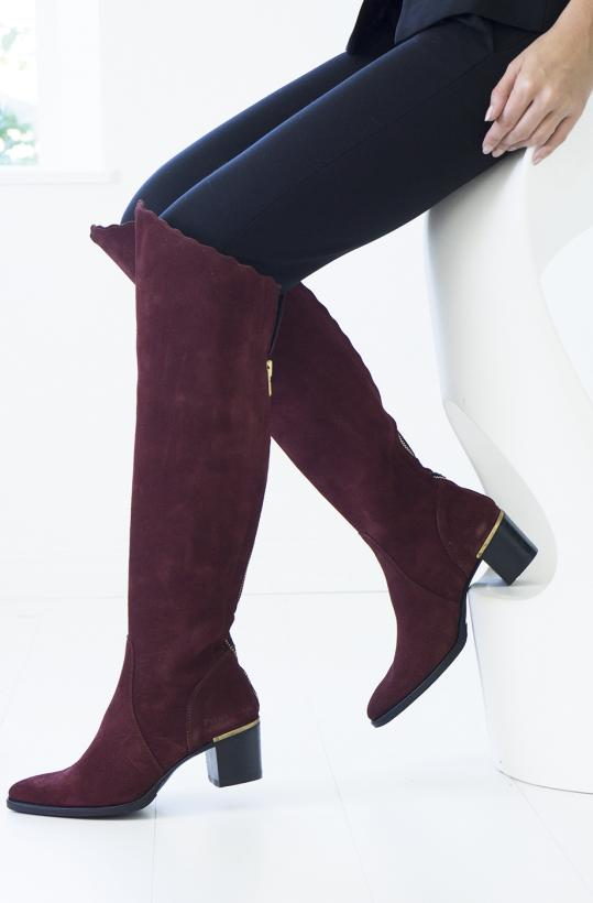 PRIMEBOOTS - Claudia Xhigh Bordeaux