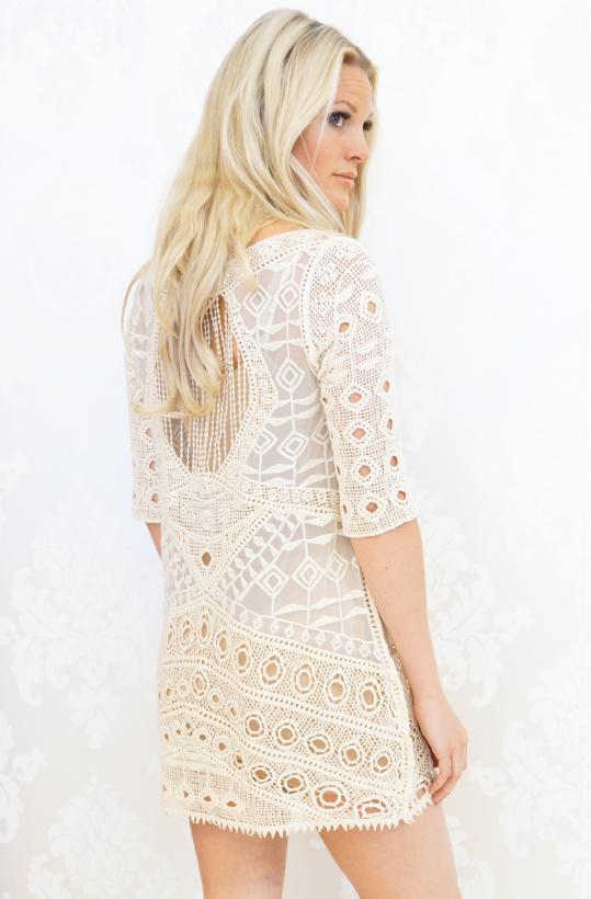 Provplagg - Lace Dress Creme