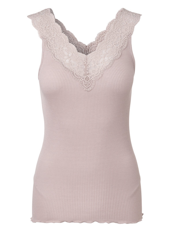 ROSEMUNDE - Silk Top with Feminin lace
