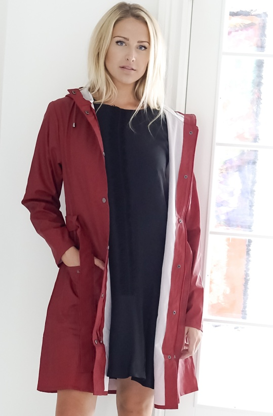 RAINS - Curve Jacket Red