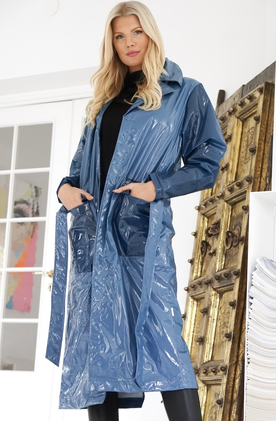 RAINS - LTD Long Overcoat Glossy Blue