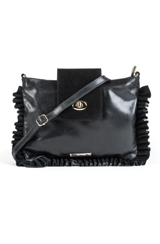 RINASCIMENTO - Small Frill Bag Black