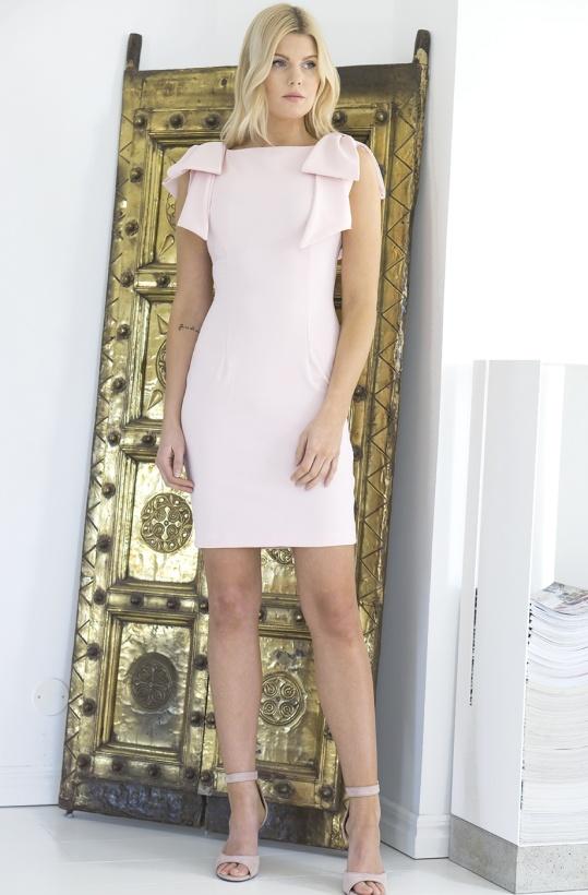 RINASCIMENTO - Dress with Shoulder-Bows